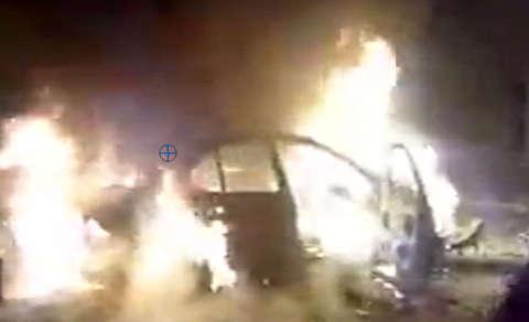 آتش زدن خودرو مردم توسط دراویش