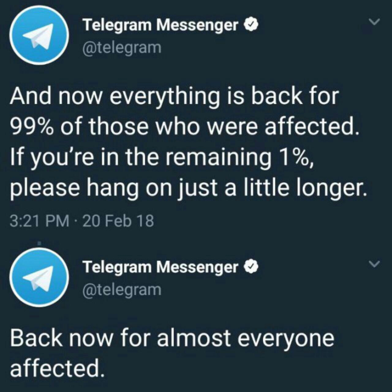 دسترسی به تلگرام با اختلال مواجه شد