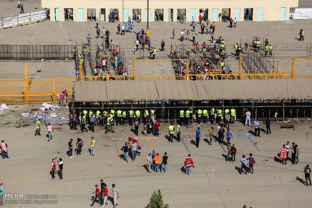 دستگیری ۱۸دزد و ۶موادفروش در جریان دربی۸۶