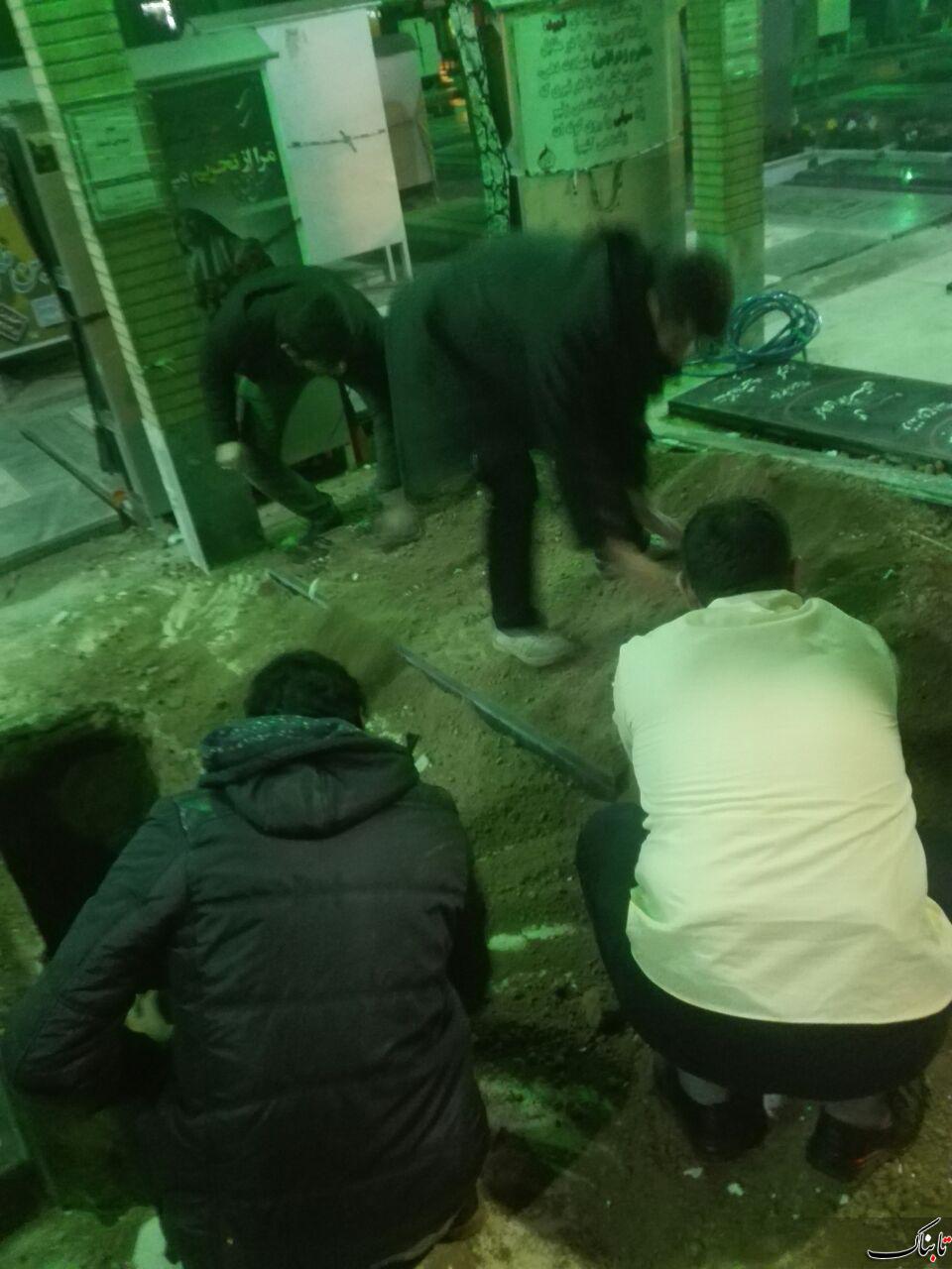 حمله به قبر پدر شهید با ادعای دفاع از شهدا!