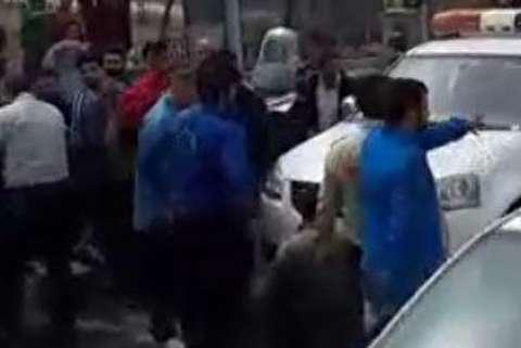 درگیری ماموران شهرداری تهران با دستفروشها