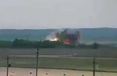 لحظه سقوط هواپیمای روسیه در سوریه