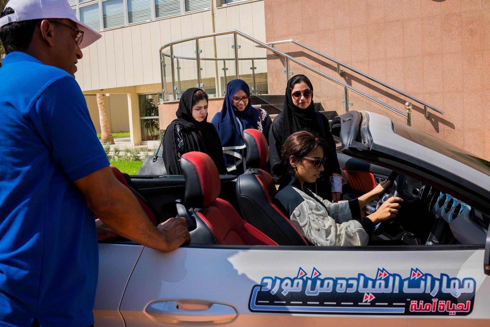 کارگاه آموزش رانندگی به زنان عربستانی