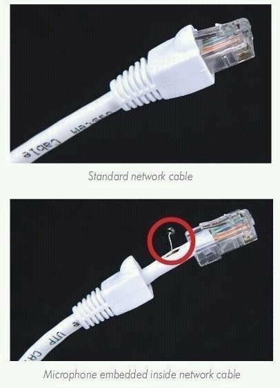 میکروفون جاسوسی در یک کابل شبکه!