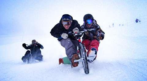 سه چرخه دریفت روی برف