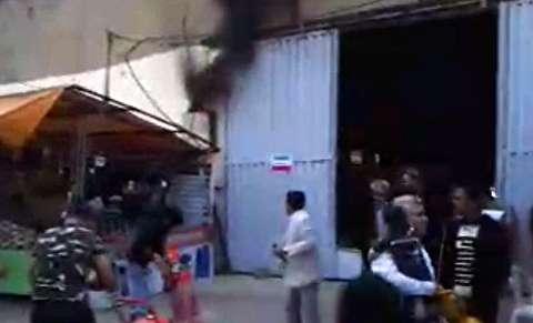 آتشسوزی ترانس برق در نمایشگاه عیدانه