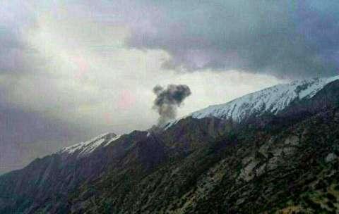 محل سقوط هواپیمای ترکیهای و پراکندگی قطعات