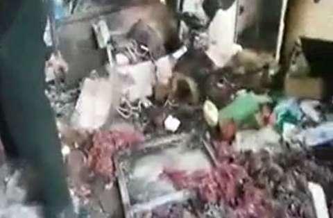 تخریب ساختمان بر اثر انفجار مواد محترقه