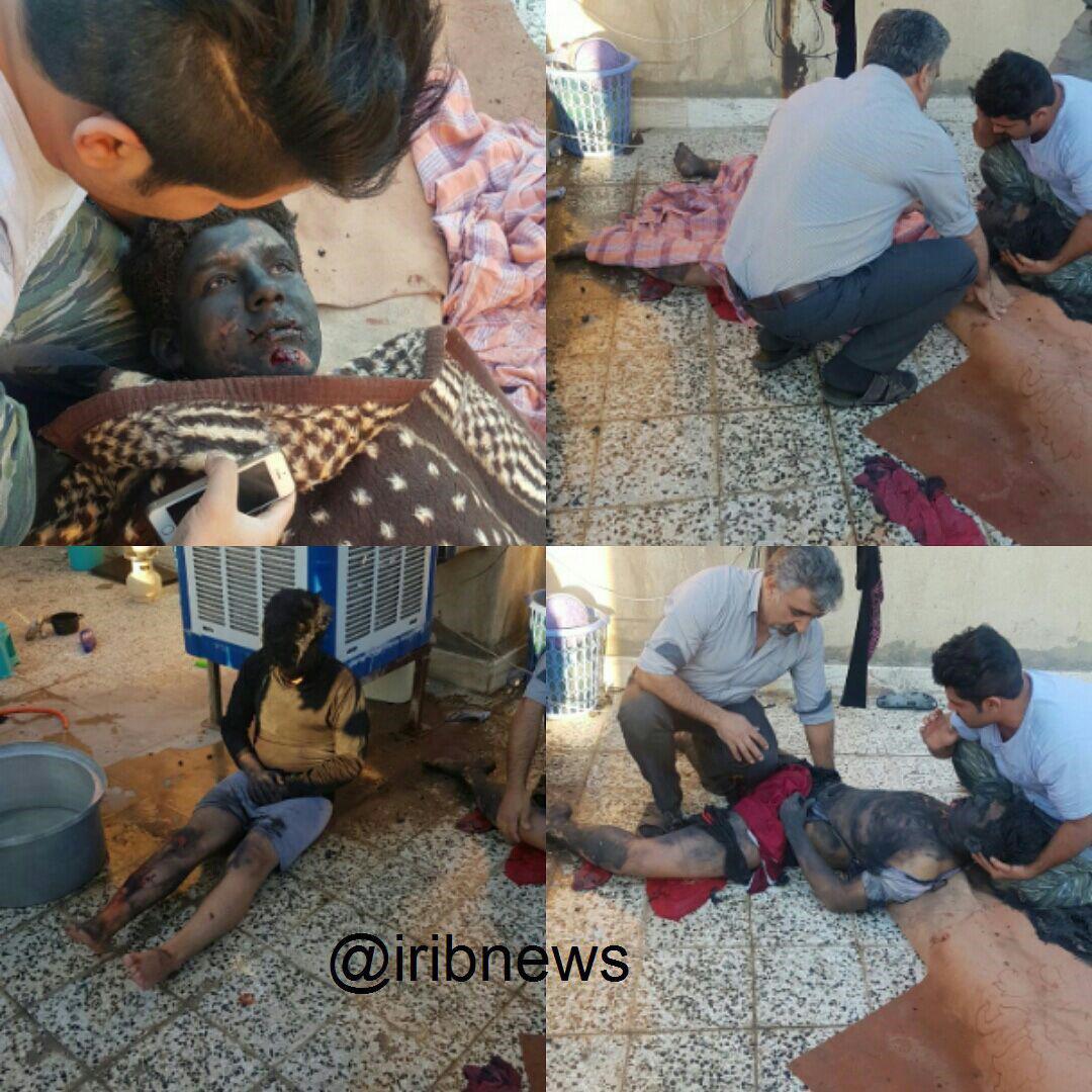 انفجار مواد محترقه در منزل مسکونی در باقرشهر