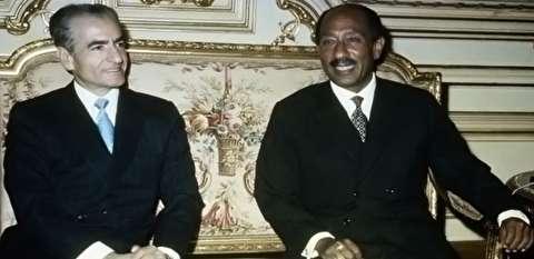 ملاقات رئیسجمهور مصر سادات با محمدرضا پهلوی