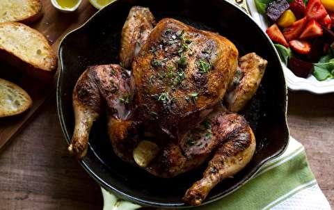 دستور پخت مرغ لونگی در فر