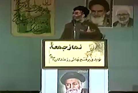 انفجار بمب در نماز جمعه تهران هنگام خطبه رهبری