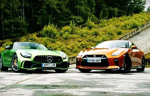 مقایسه نیسان GT-R با مرسدس بنز AMG GT R