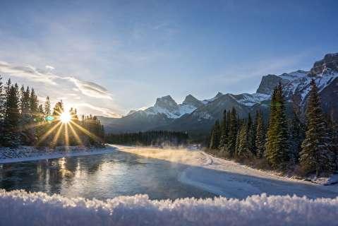 زمستان در آلبرتای کانادا