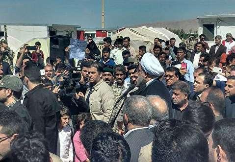 ورود رئیس جمهور به مناطق زلزله زده کرمانشاه