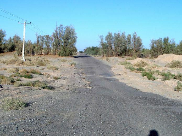 جاده روستای دهرضا شهرستان ریگان استان کرمان