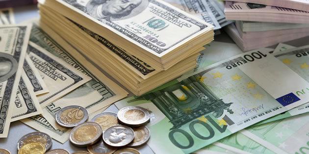 جدیدترین نرخ دلار آمریکا و یورو در بازار ارز؛ سه شنبه ۸ اسفند ۹۶/ افزایش نرخ دلار و یورو مبادلهای