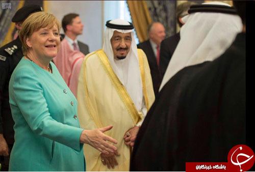امتناع مرکل از پوشیدن حجاب در دیدار با آلسعود