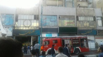 حریق گسترده در یکی دیگر از پاساژهای قدیمی تهران +تکمیلی