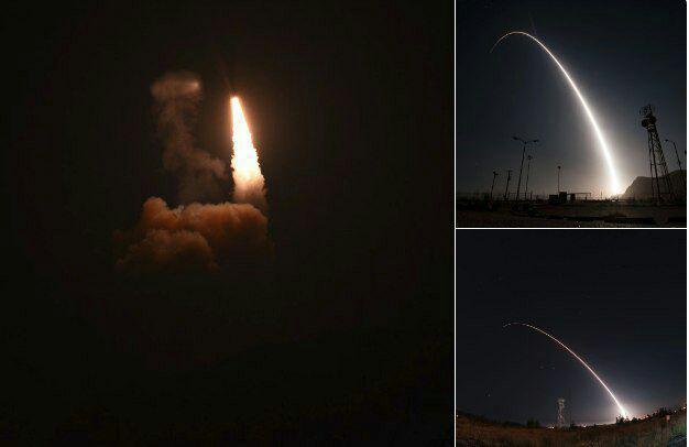 آمریکا موشک بالستیک قارهپیما آزمایش کرد