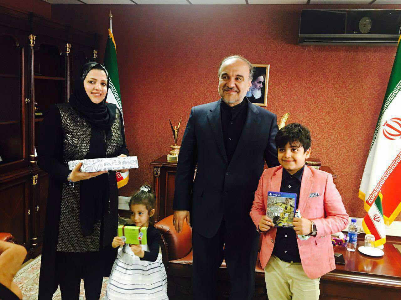 دیدار جالب وزیر ورزش با خانواده هادی نوروزی