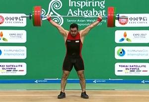 طلای اول وزنهبرداری ایران در آسیایی ترکمنستان