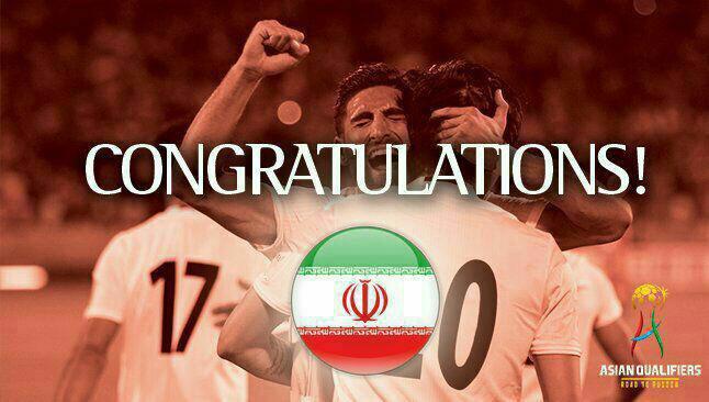 تبریک فوری و ویژه فیفا و ای اف سی به ایران