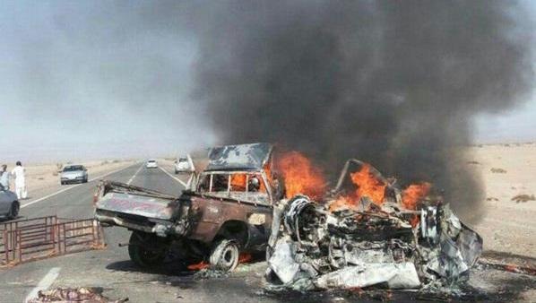 کشته شدن 5 نفر در تصادف جاده زابل - زاهدان
