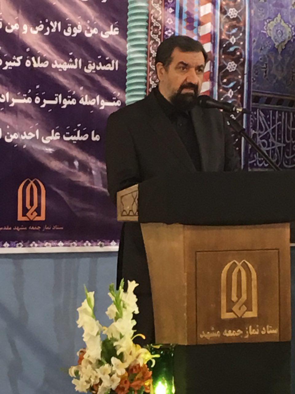 محسن رضايی: انقلاب اسلامی ایران در مقابل تهدیدها یک فناوری چهار مرحلهای دارد / دشمن میگفت تحریمها شش ماهه مردم را به گرسنگی میاندازد اما سه در مدت سه سال هیچ دستاوردی نداشتند و مذاکره کردند