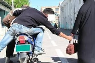 تصادف کیف قاپ ها پس از فرار