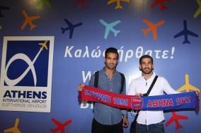 استقبال از دو لژیونر ایران در فرودگاه یونان