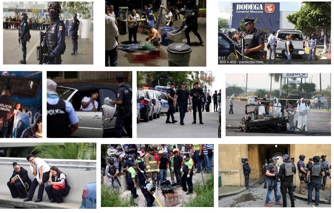 مرگ 19 نفر در حملات مسلحانه در مکزیک