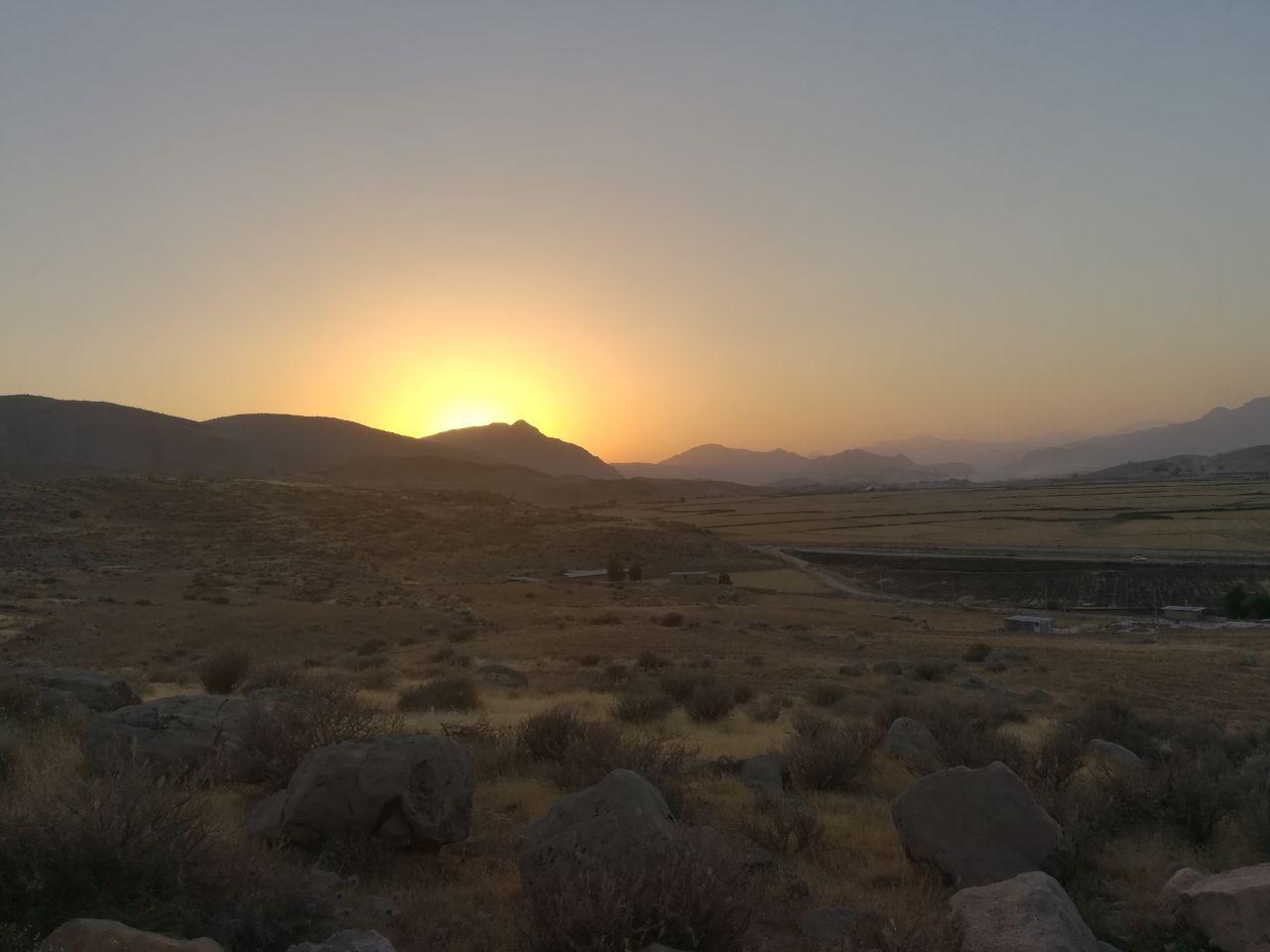 غروب زیبا در روستای پادراز جاوید شهرستان ممسنی