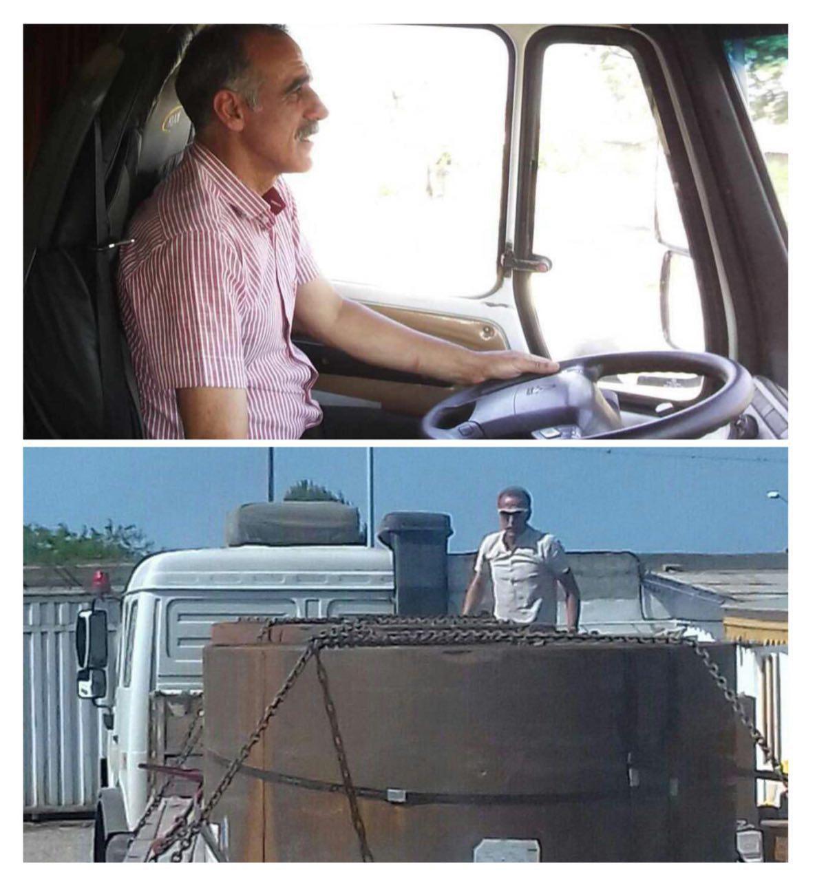 عکس سرمربی معروف ایرانی که راننده کامیون شد