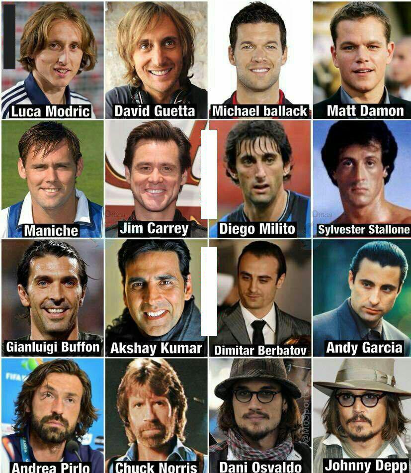 شباهت این ستاره های فوتبال به بازیگران هالیوود!
