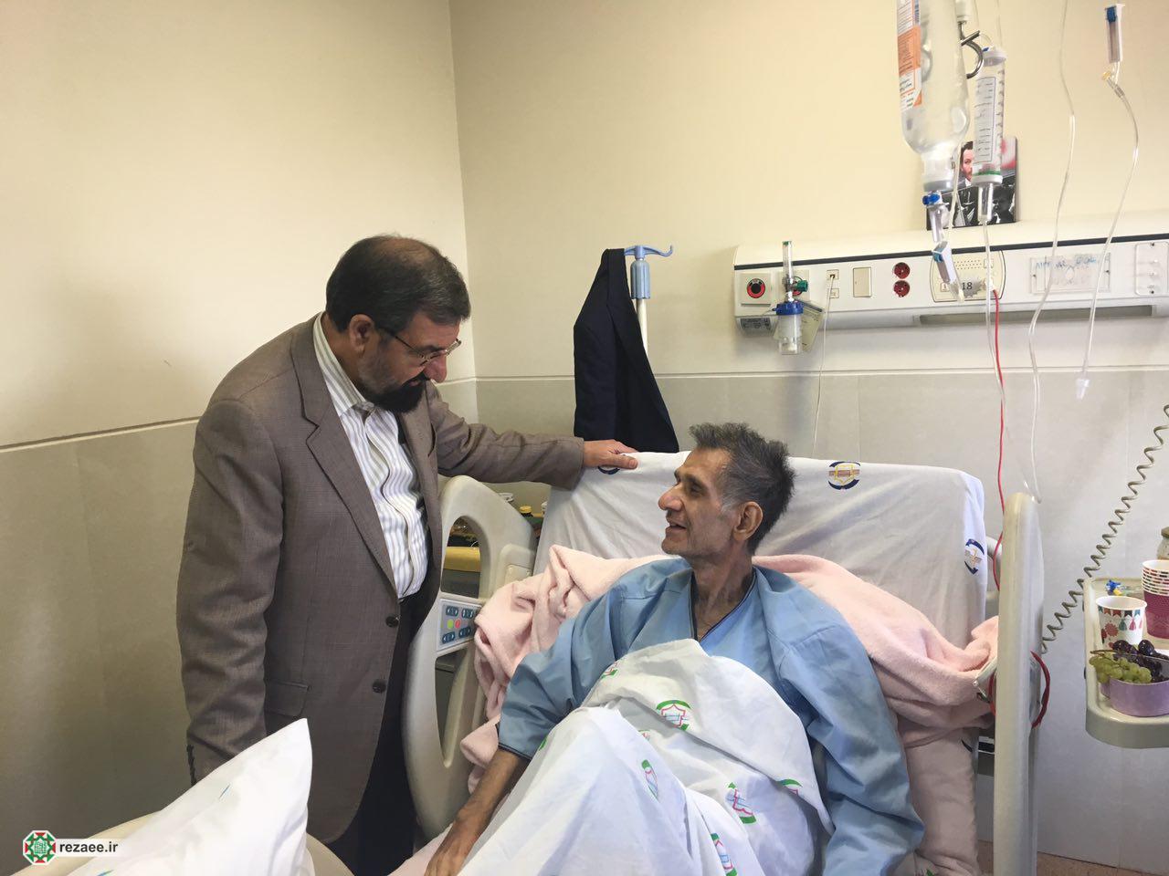 عیادت محسن رضایی از حبیب سينما و تلويزيون