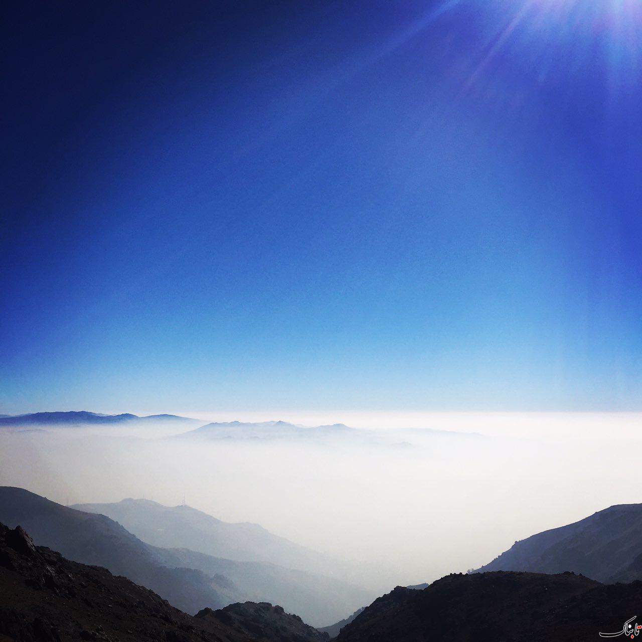 تهران از ارتفاع ٣٠٠٠ ايستگاه ٥ توچال