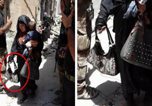 عملیات انتحاری زن داعشی با کودکی در آغوش