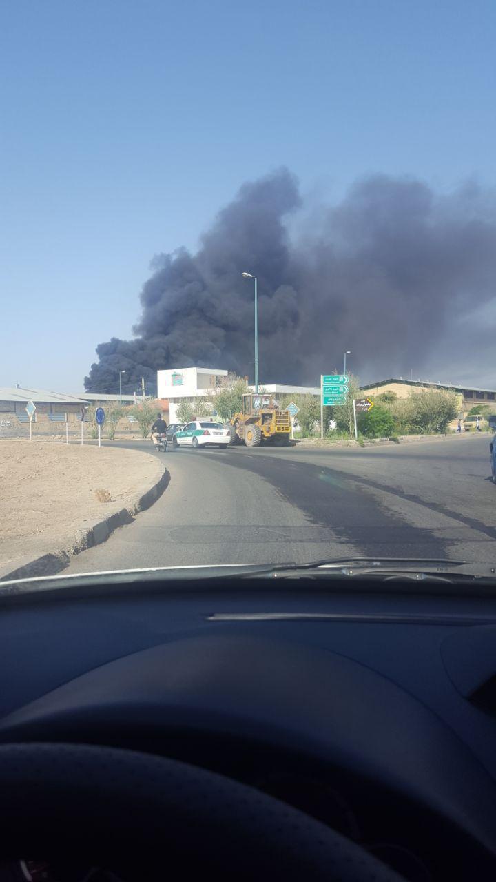 آتشسوزی  شهرک صنعتی شکوهیه قم