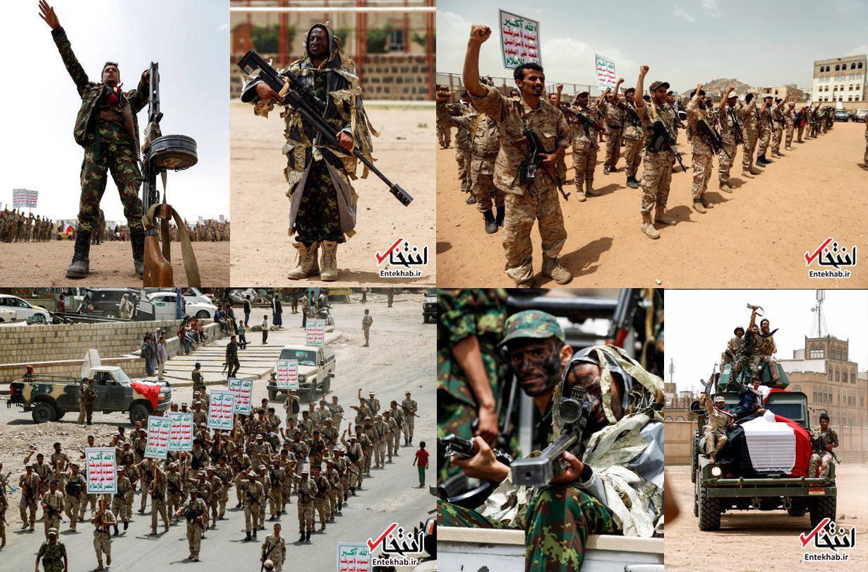 رژه نیروهای تازه انصارالله در صنعا