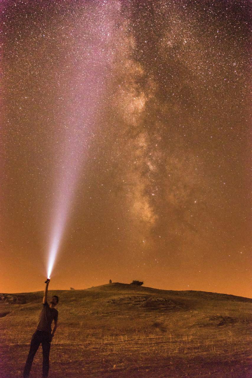 کهکشان راه شیری- روستای یمحه مسجد سلیمان