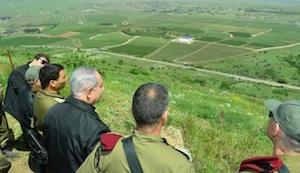 اصابت موشک به جولان هنگام حضور نتانیاهو
