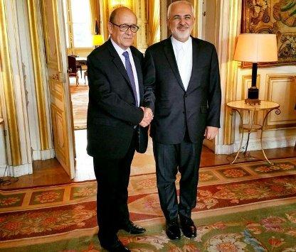 دیدار ظریف با همتای فرانسوی خود در پاریس