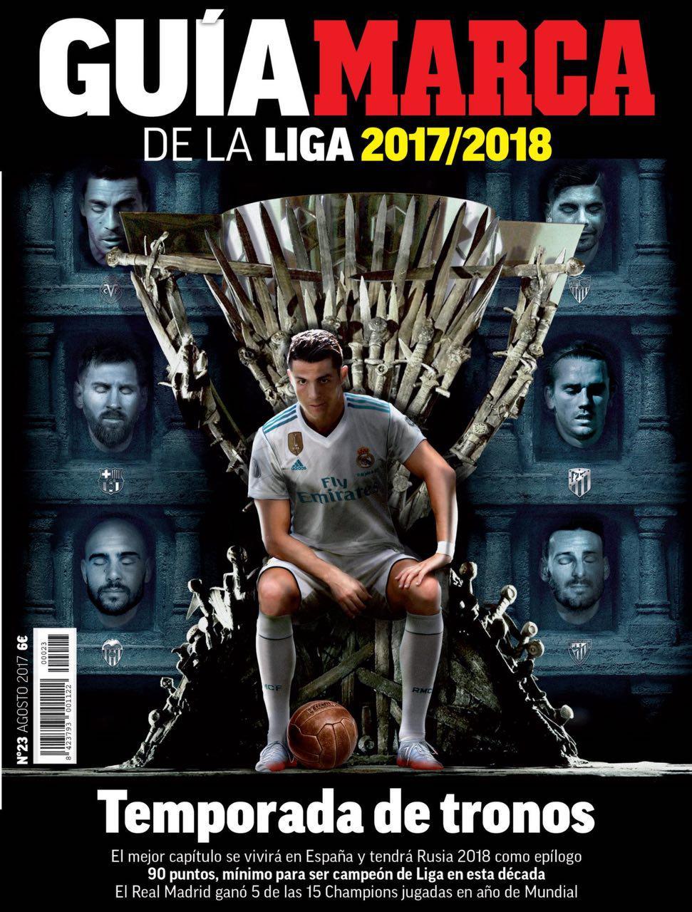 جلد استثنایی مارکا برای آغاز فصل فوتبال اسپانیا