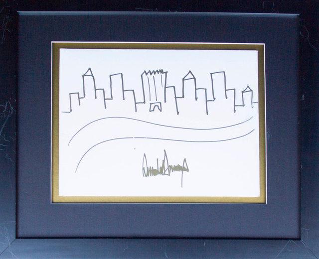 ۳۰۰۰۰ دلار ناقابل برای نقاشی عجیب ترامپ