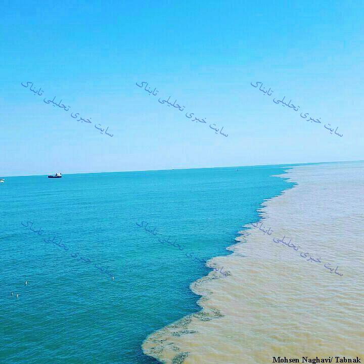 محل برخورد دریا و تالاب در انزلی