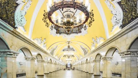 قصرهای زیرزمینی مترو مسکو