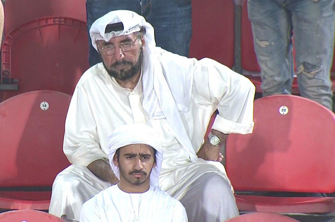 تصویری ازشوک هواداران الاهلی روی سکوهای بن زاید