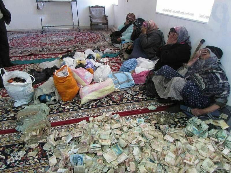 اموال و دارایی چند متکدی تهرانی در خانهشان
