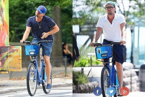 دیکاپریو در جمع دوچرخهسواران نیویورک روز انلاینK